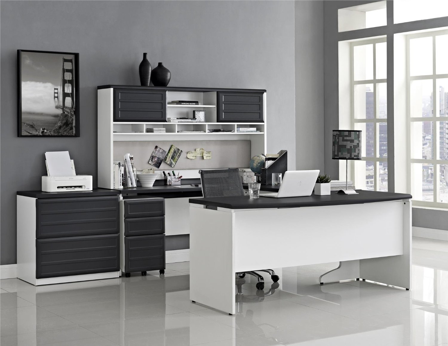 aluminum desk full glamorous size wood and for office colormanufactured frantic brushed lacquer in pool of dw black wells construction faux large as white executive fabulous